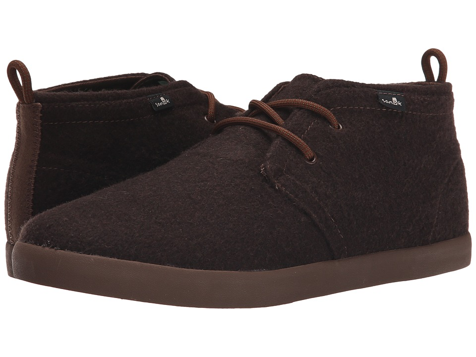 Sanuk Cargo TX Brown Wool Mens Lace up casual Shoes
