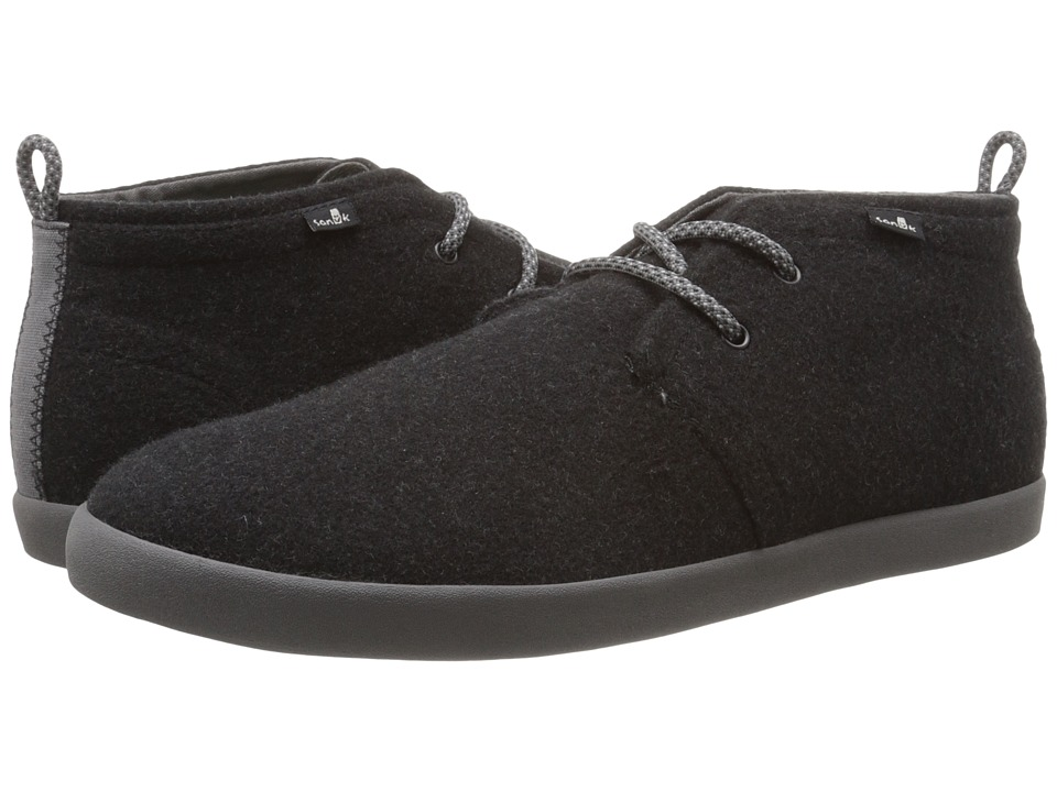 Sanuk Cargo TX Charcoal Wool Mens Lace up casual Shoes