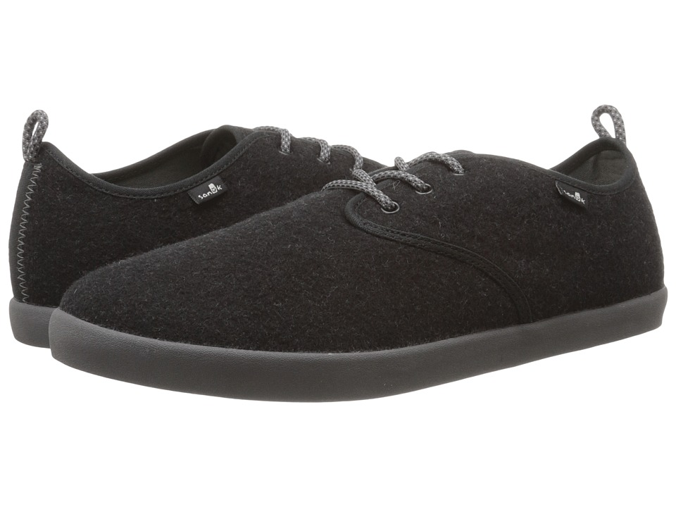 Sanuk Guide TX Charcoal Wool Mens Lace up casual Shoes