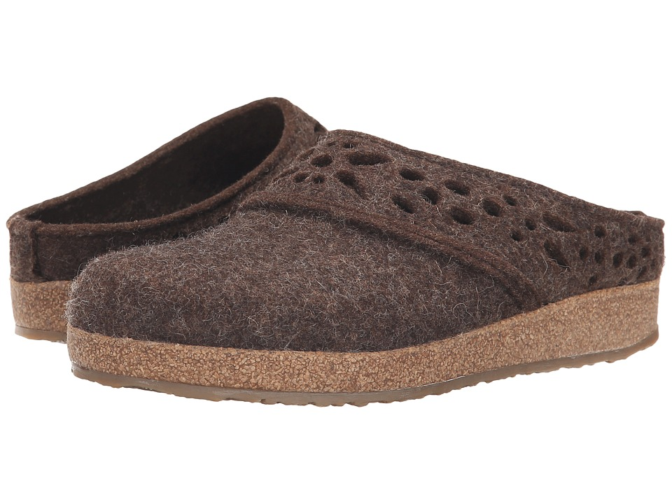 Haflinger Lacey Chocolate Womens Slippers