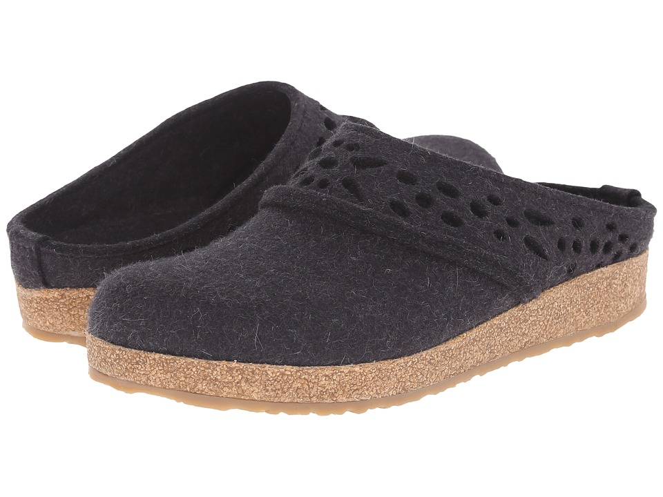 Haflinger Lacey Charcoal Womens Slippers