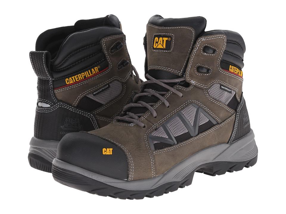 Caterpillar - Compressor 6 Waterproof Composite Toe (Dark Gull Grey) Men
