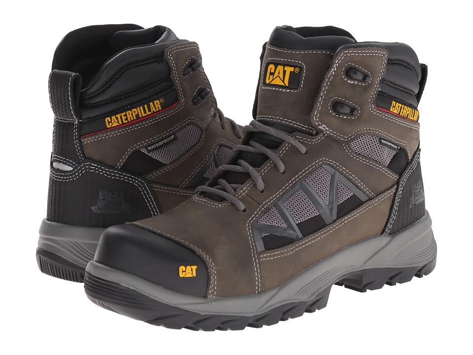 Caterpillar - Compressor 6 Waterproof Soft Toe (Dark Gull Grey) Men