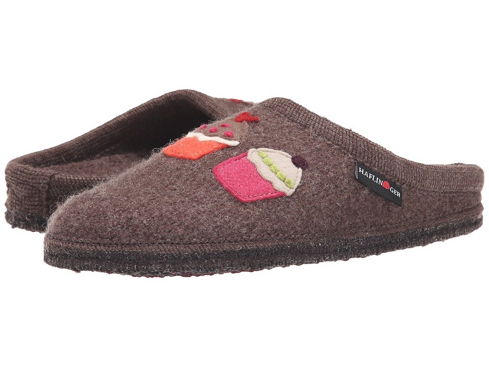 Haflinger Sweetie Smokey Brown Womens Slippers