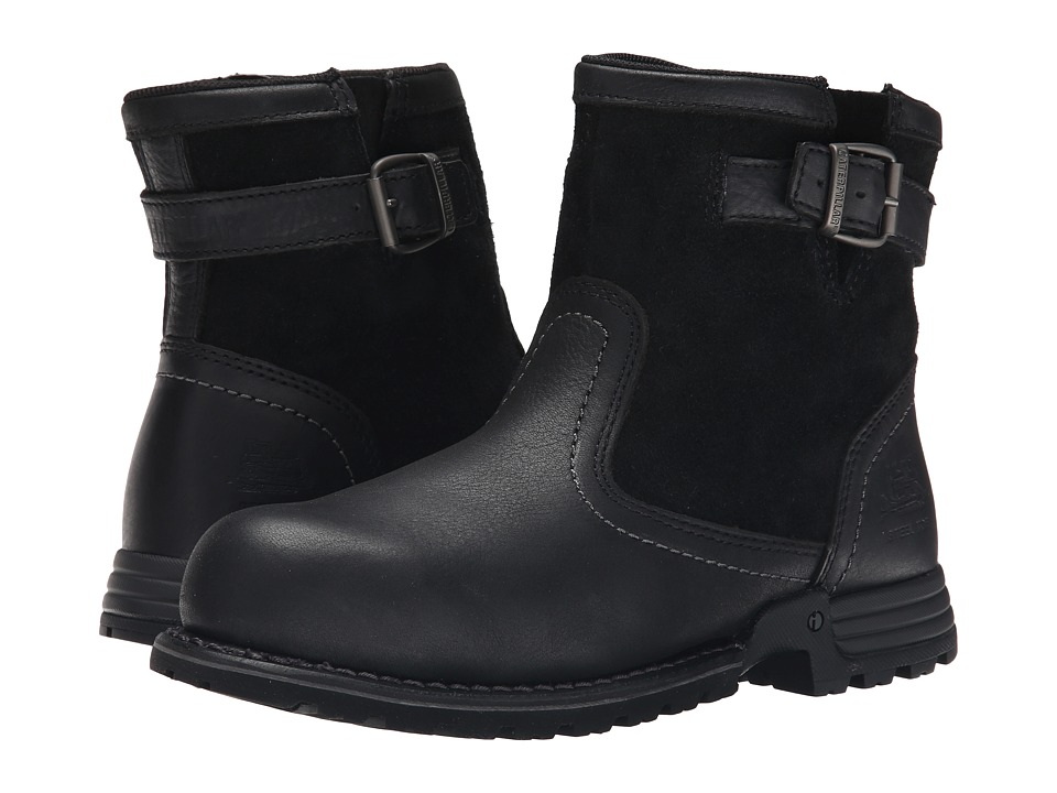 Retro Boots, Granny Boots, 70s Boots Caterpillar - Jace Steel Toe Black Womens Work Boots $133.95 AT vintagedancer.com