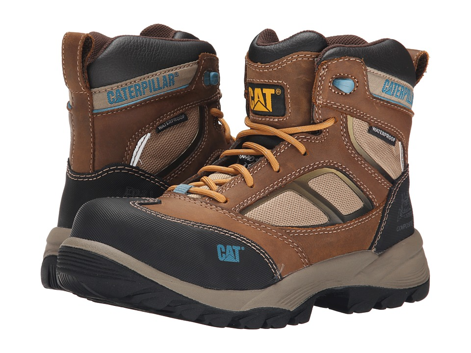 Caterpillar Shaman 6 Waterproof Composite Toe (Brown) Women