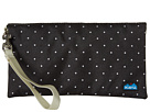 KAVU Clutch-n-Go (Black/White Dots)