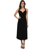 KAMALIKULTURE by Norma Kamali - Halter Sweetheart Flared Half Calf Dress