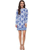 MICHAEL Michael Kors - Petite Glazed Tile Long Sleeve Border Dress