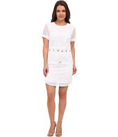 MICHAEL Michael Kors - Petite Short Sleeve Drawstring Panel Dress