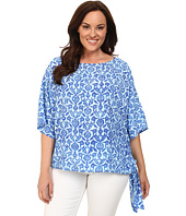 MICHAEL Michael Kors - Plus Size Floral Tile Tie Top