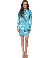 MICHAEL Michael Kors - Petite Rainwater Long Sleeve Border Dress