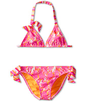 Roxy Kids - Palm Print Tiki Triangle Set (Big Kids)