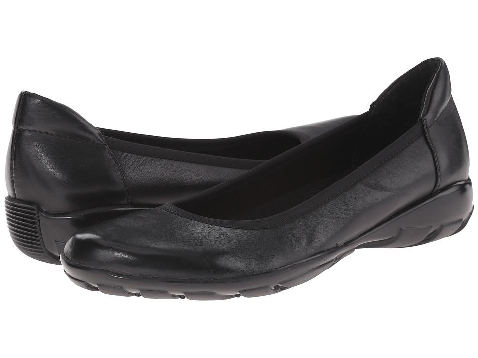Vaneli Arvel Black Nappa Womens Flat Shoes