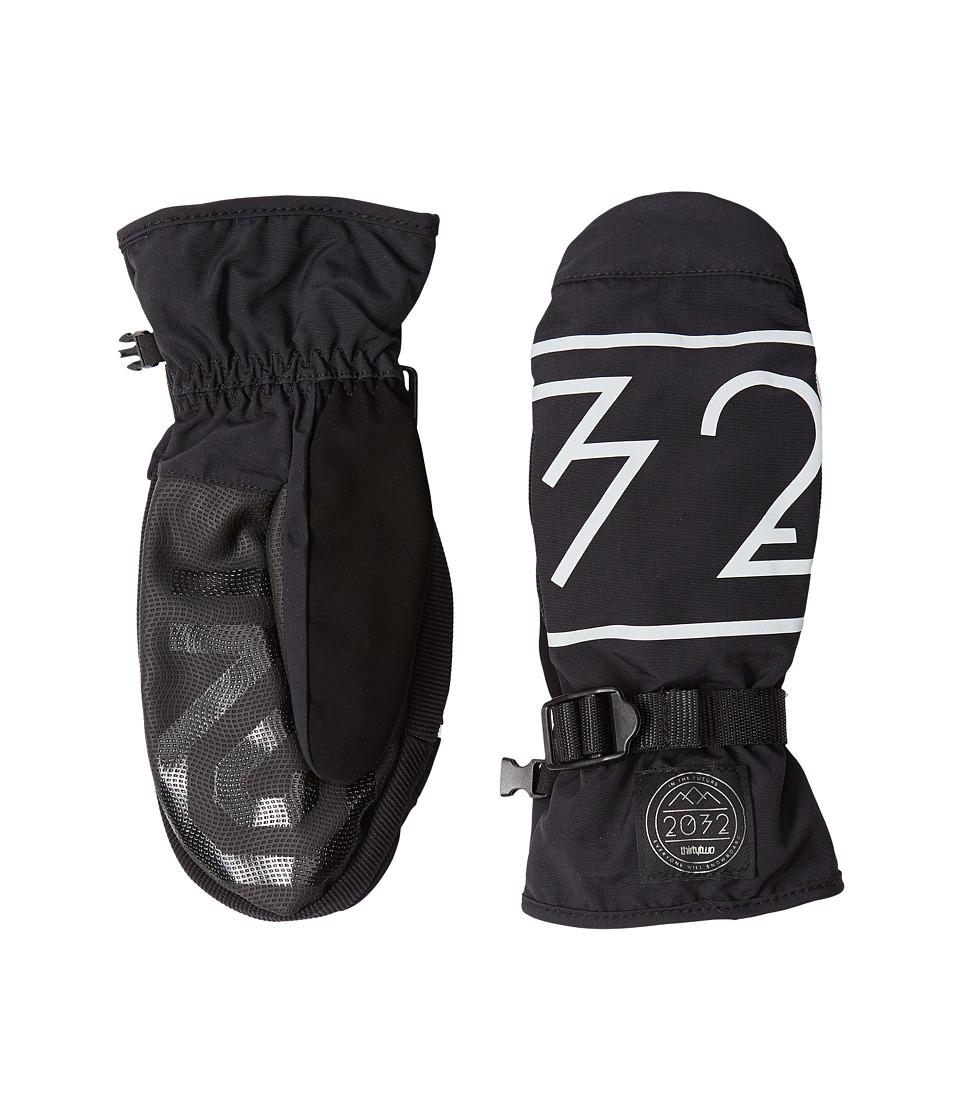 thirtytwo 2032 Mitt Black Over Mits Gloves