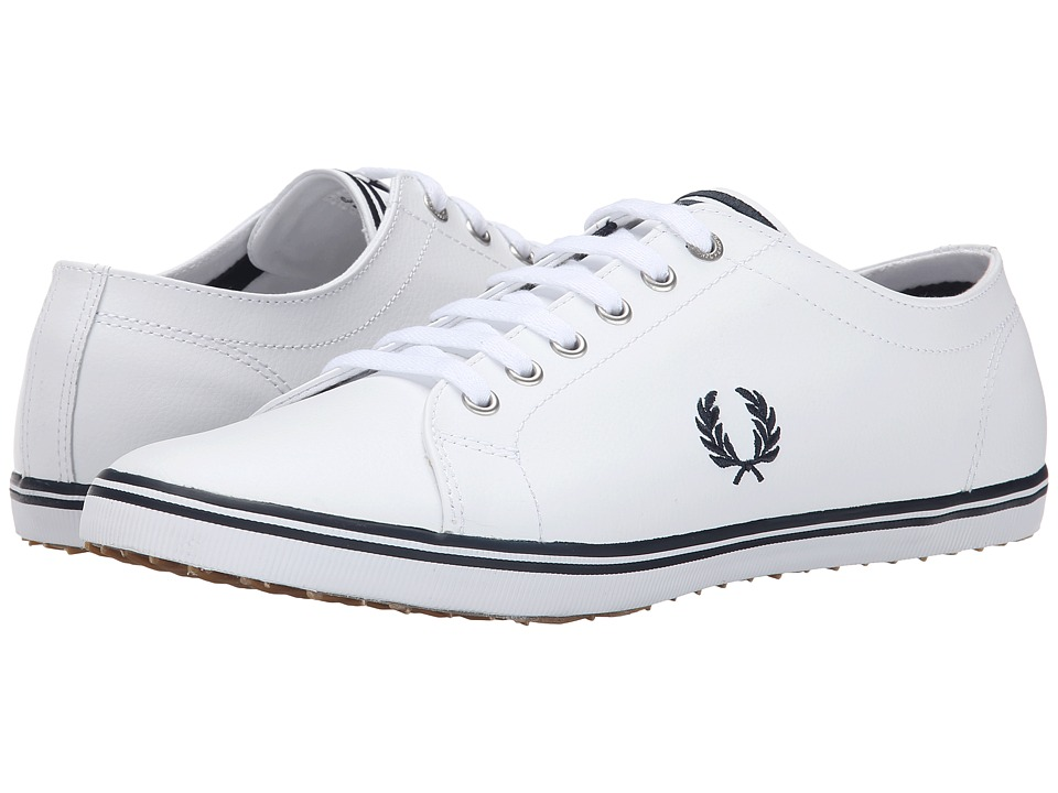 Fred Perry - Kingston Leather (White/Navy) Men
