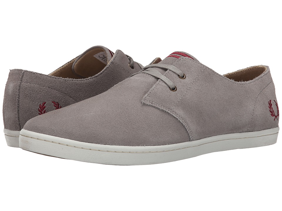 Fred Perry Byron Low Suede Cloudburst/Port Mens Shoes