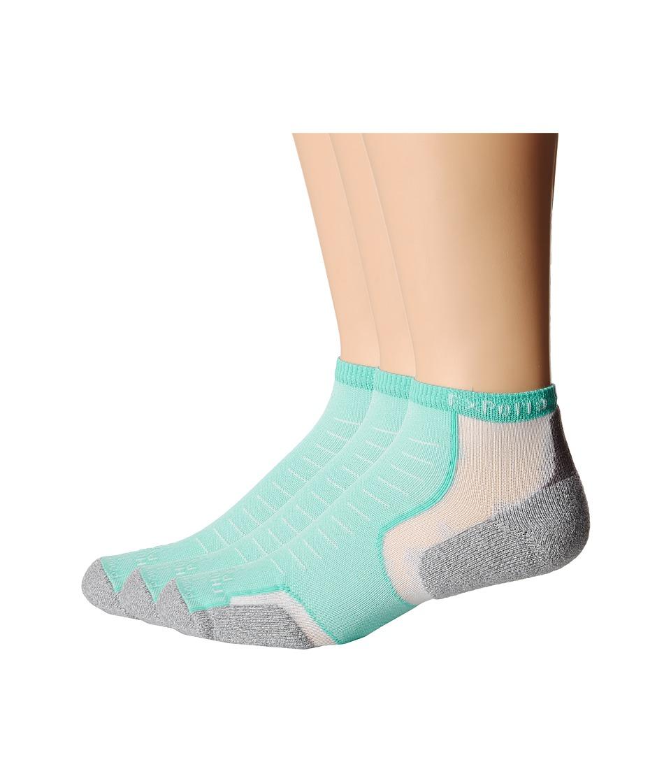 Thorlos Experia Micro Mini 3 Pair Pack Spearmint No Show Socks Shoes