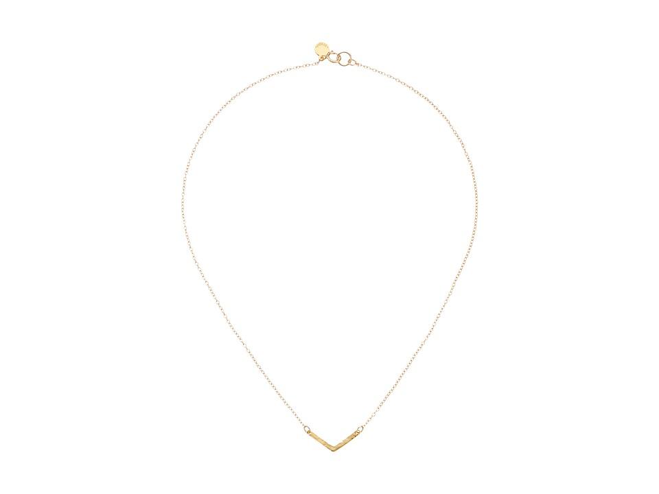 gorjana - Taner V Charm Necklace (Gold) Necklace