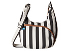 KAVU Sydney Satchel (Black/White Stripe)