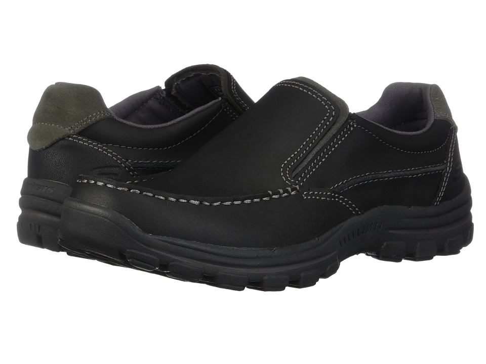SKECHERS - Relaxed Fit Braver - Rayland (Black) Mens Slip on  Shoes