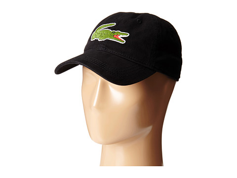 Lacoste Big Croc Gabardine Cap - Black