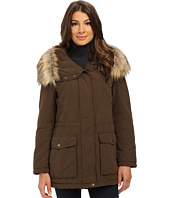 DKNY - Fur Hooded Anorak with Patched Pocket