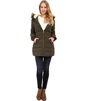 DKNY - Fur Hooded/Berber Lined Quilted