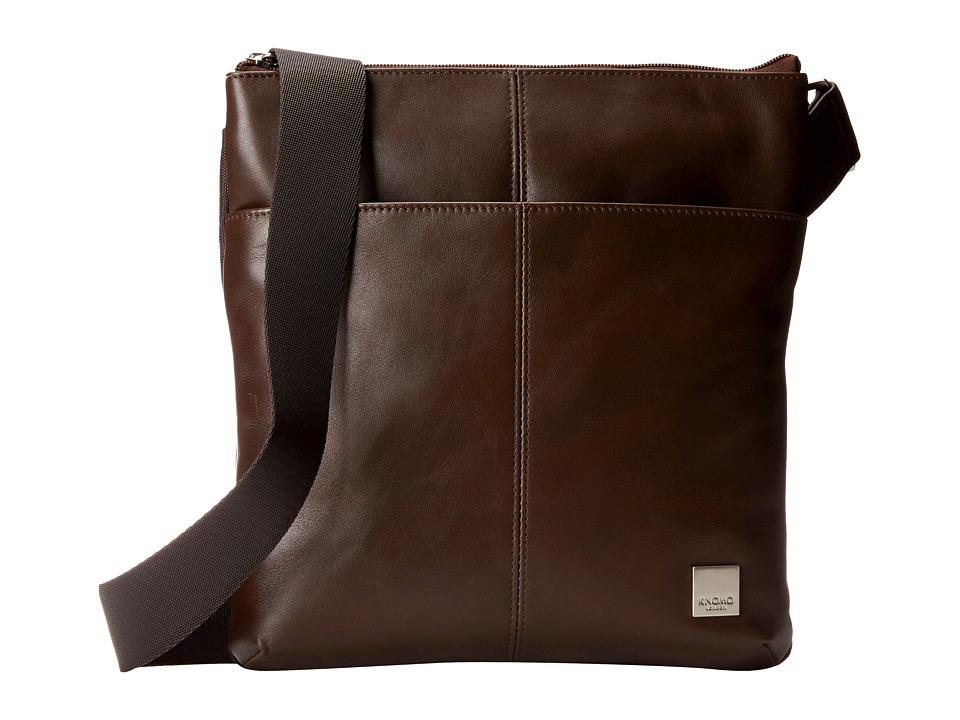 KNOMO London - Kyoto Crossbody Bag (Brown) Cross Body Handbags