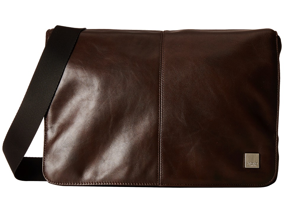KNOMO London - Kinsale Small Messenger Laptop Bag (Brown) Messenger Bags