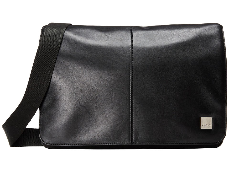 KNOMO London - Kinsale Small Messenger Laptop Bag (Black) Messenger Bags