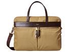KNOMO London Hanover Slim Laptop Briefcase (Khaki)