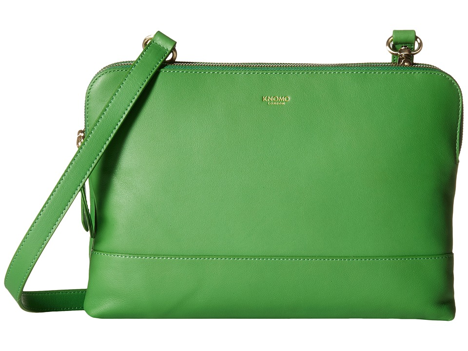 KNOMO London - Davies Leather Crossbody Bag (Green) Cross Body Handbags