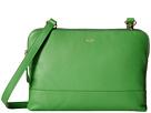 KNOMO London Davies Leather Crossbody Bag (Green)