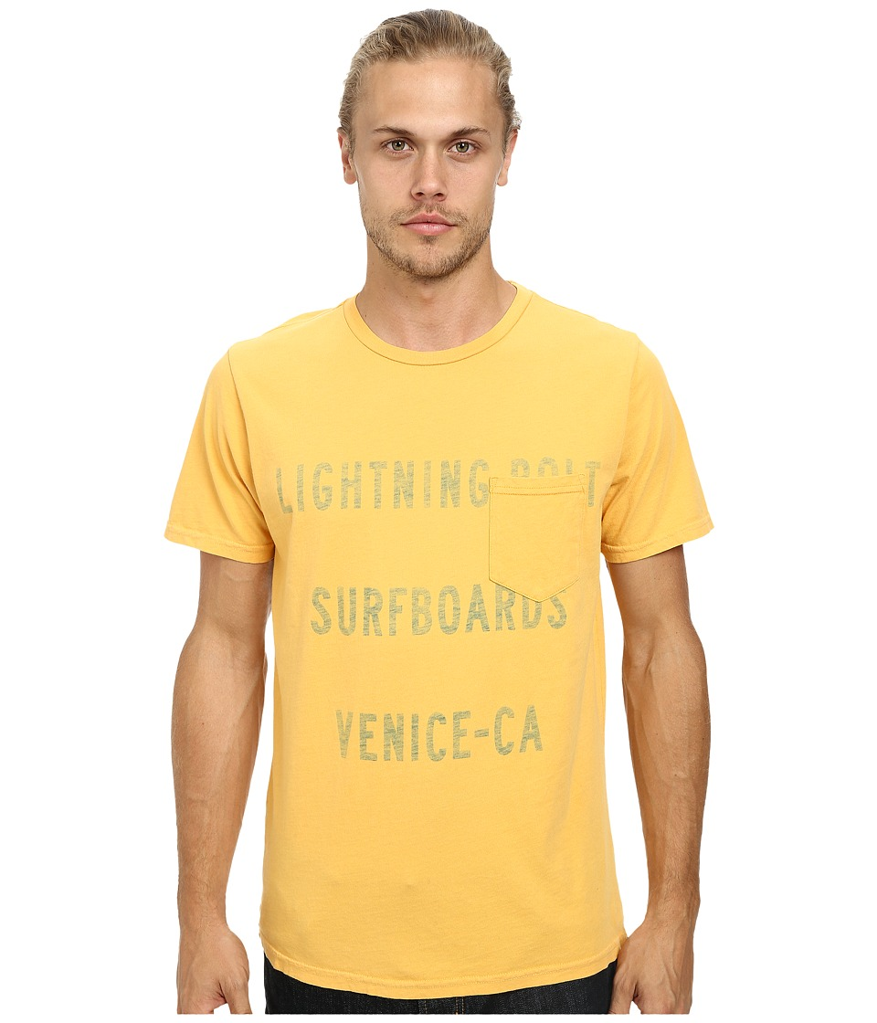 Lightning Bolt Venice Shop Pocket Tee Beeswax Mens T Shirt
