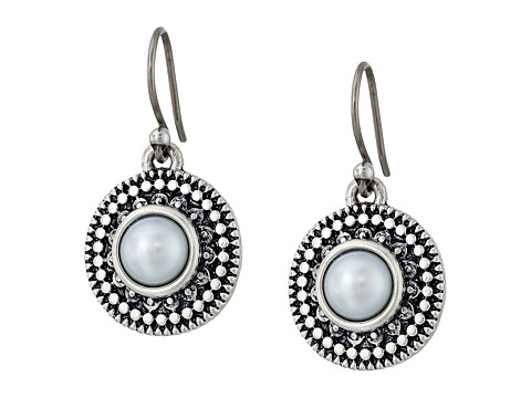 Lucky Brand Pearl Small Drop Earrings - Silver