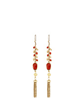 Lucky Brand - Carnelian Linear Drop Earrings