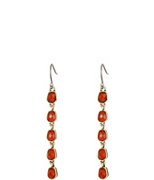 Lucky Brand - Gold and Red Linear Drop Earrings