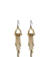 Lucky Brand - Gold Hammered Paddle Drop Earrings