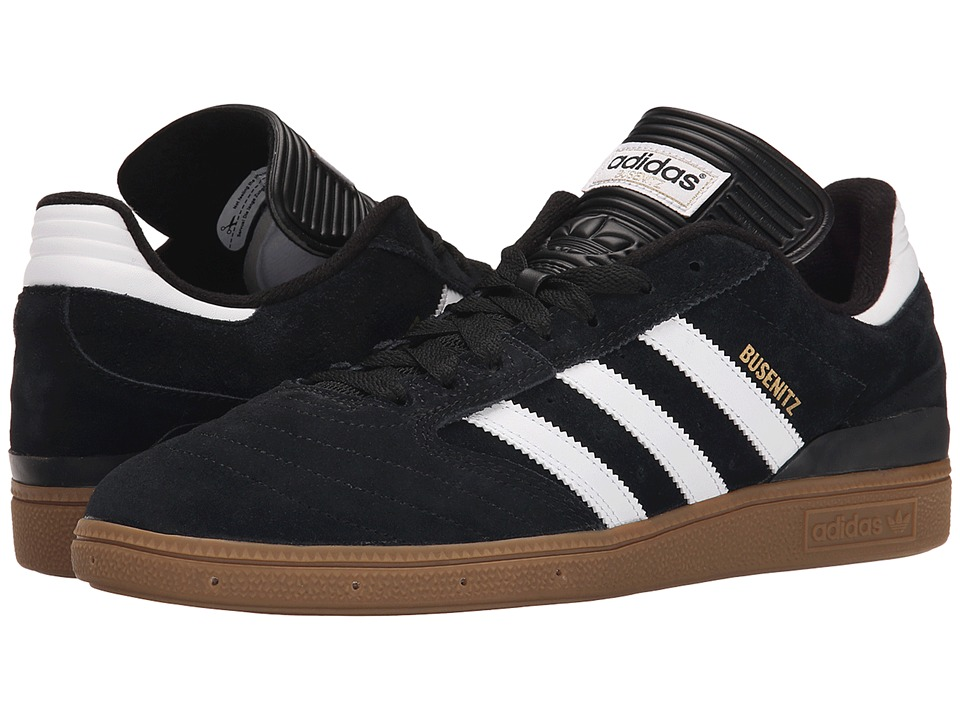 adidas Skateboarding - Busenitz Pro (Black/White/Metallic Gold) Mens Skate Shoes