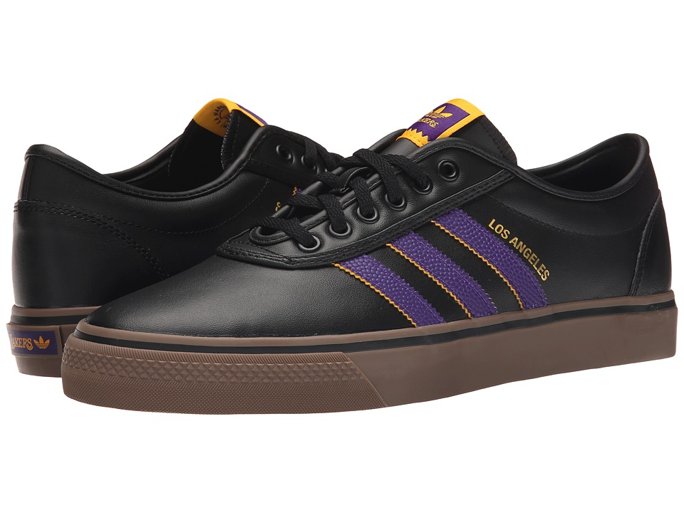 adidas Skateboarding Adi Ease X NBA Black/Regal Purple/Gold Mens Skate Shoes