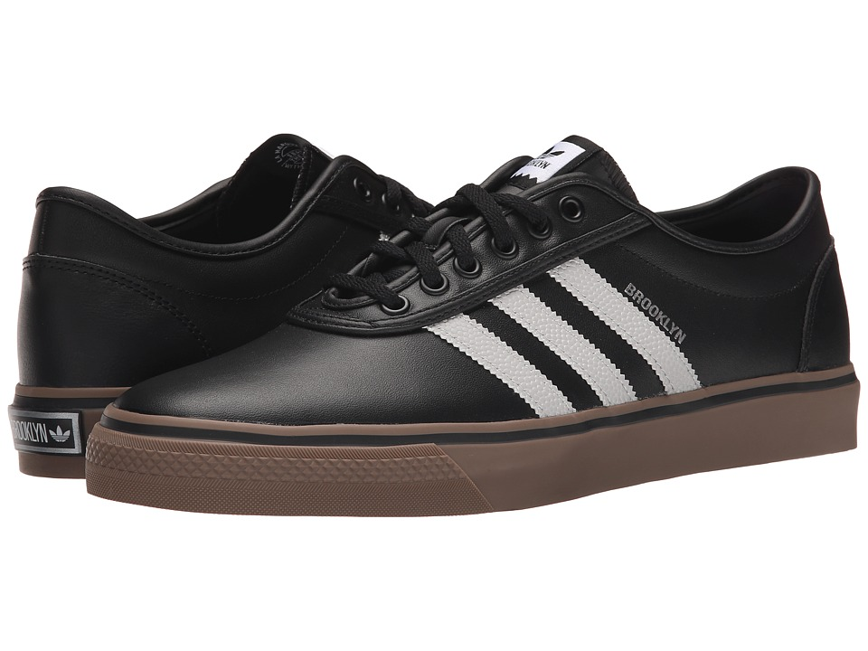 adidas Skateboarding Adi Ease X NBA Black/Solid Grey/Silver Metallic Mens Skate Shoes