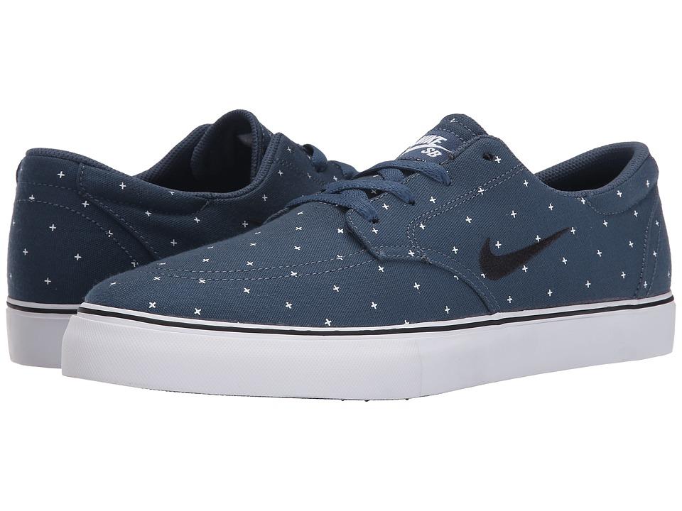 Nike SB - Clutch Premium (Squadron Blue/White/Black) Mens Skate Shoes