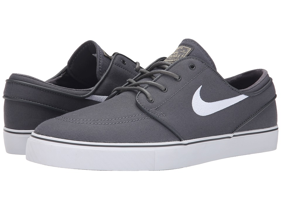 Nike SB - Zoom Stefan Janoski Canvas (Dark Grey/Gum Light Brown/Metallic Gold Star/White) Mens Skate Shoes
