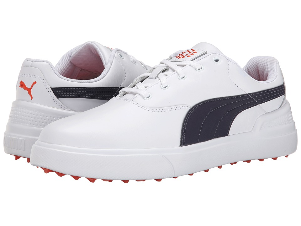 PUMA Golf - Monolite V2 (White/Periscope/Spicy Orange) Men