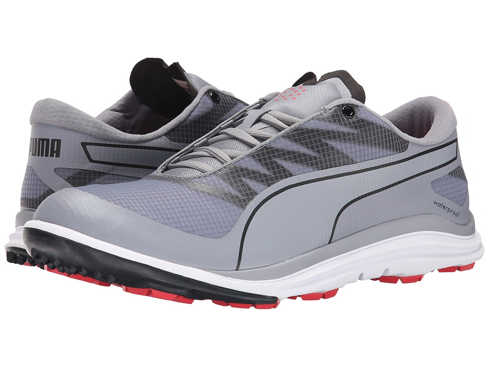 PUMA Golf Biodrive Quicksilver/Black/Cayenne Mens Golf Shoes