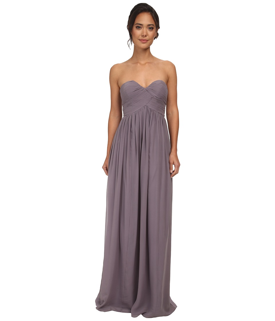 Donna Morgan Laura Long Chiffon Gown Dress (Grey Ridge) Women