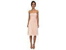Donna Morgan Anne Short Strapless Chiffon Dress (Chantilly)
