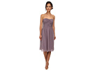 Donna Morgan Anne Short Strapless Chiffon Dress (Grey Ridge)