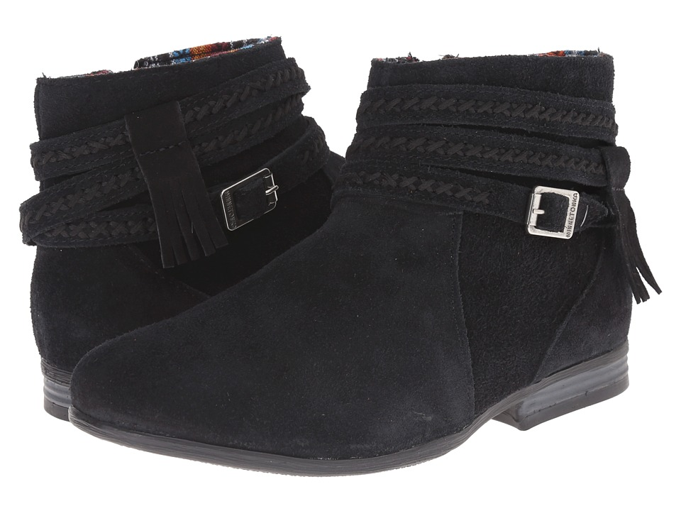 Minnetonka - Dixon Boot (Black Suede) Women